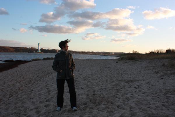 Haare, Leuchtturm, ich: alles in Falckenstein, November 2013