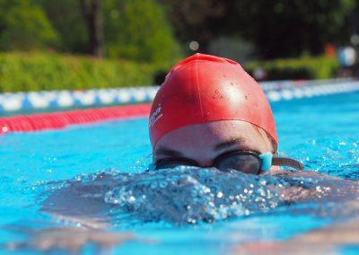 Mit souveräner Schwimmtechnik gelingt es Christin Schröder, ihre Zeit immer weiter zu verbessern